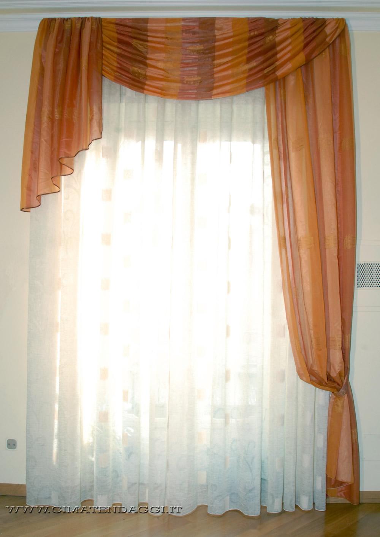 Mantovane per tende tende con mantovane torino cima tendaggi - Tende da camera da letto classiche ...