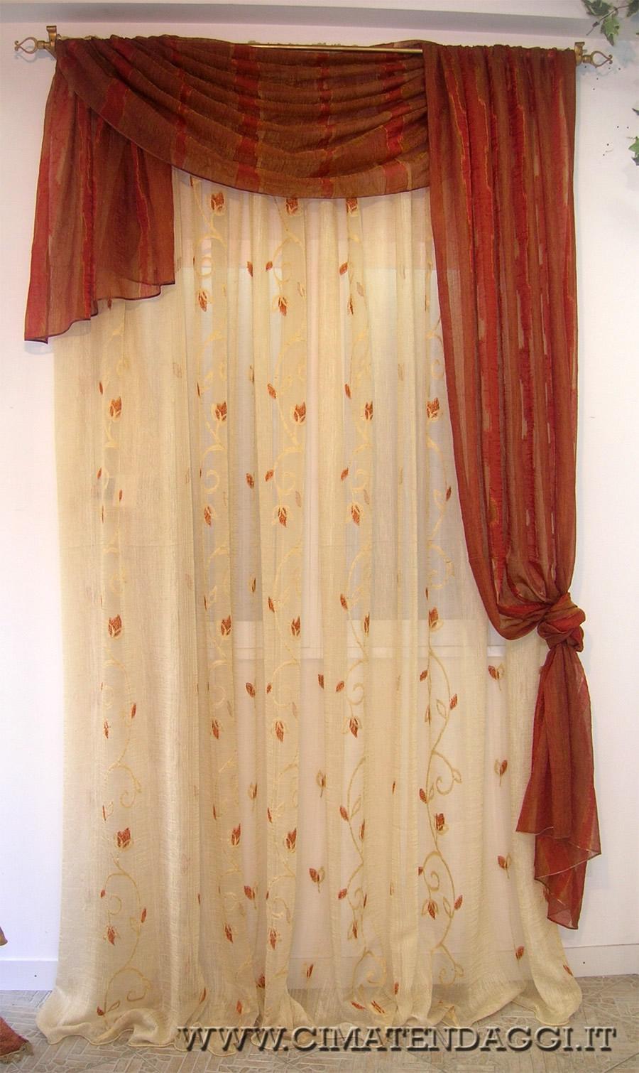 Immagini mantovane per tende idee per la casa for Tende classiche con mantovana